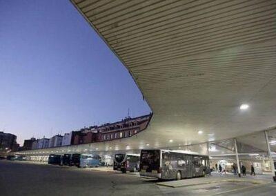 Bus station LED lighting installation