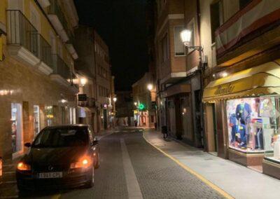 LED street lighting installation and energy management