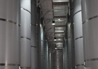 Adaptation of luminaires in the winery
