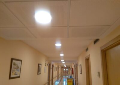 Fitting of LED luminaires for a residential center