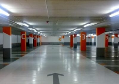 Replacement of car park chain lighting system