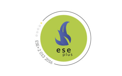 Alisea Esco receives the ese plus seal from ANESE