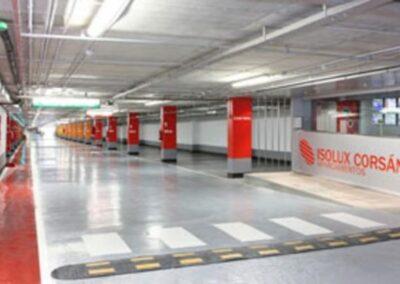 Reemplazo sistema de iluminación de cadena de aparcamientos
